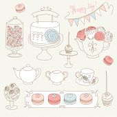 picture of girlie  - Stylish Birthday party set with bunting - JPG