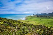 Scenic Landscape At East Cape Lighthouse, East Cape, North Island, New Zealand poster