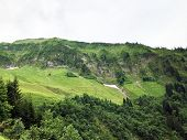 Alpine Mountain Firsten Above The Wagital Or Waegital Valley And Alpine Lake Wagitalersee (waegitale poster