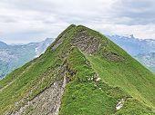 Alpine Peak Turner Above The Wagital Or Waegital Valley And Alpine Lake Wagitalersee (waegitalersee) poster