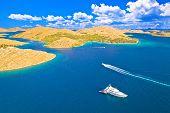 Kornati. Aerial Panoramic View Of Famous Adriatic Sea Sailing Destination, Kornati Archipelago Natio poster