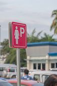 Signs Symbols Parking For Women, Parking Place Only For Women poster