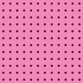 Pink Polka Dots On Pink Background In 12x12 Digital Paper For Graphic Design And Page Elements.  Sma poster