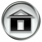Home Icon Grey, Isolated On White Background