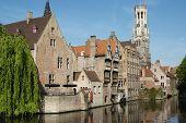 Rozenhoedkaai, One Of The Landmarks In Bruges poster