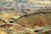 picture of semi-arid  - The border between Georgia and Azerbaijan David Gareja Caucasus - JPG