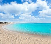image of tanga  - beach llevant formentera called playa tanga - JPG