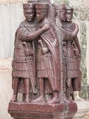 foto of porphyry  - The four Tetrarchs statue at the entrance of the Doge - JPG
