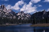 pic of fin  - Welcome Lake and Fish Fin Ridge are located in the Bighorn Crag wilderness area of central Idaho - JPG