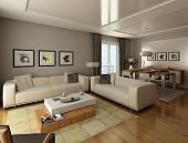 picture of penthouse  - interior design of a modern living room - JPG