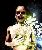 pic of festering  - A close up image of a dead Zombie - JPG