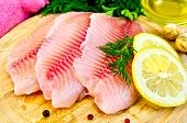 Fillets Tilapia With Oil And Lemon