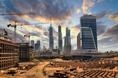 stock photo of emirates  - Grandiose construction in Dubai - JPG