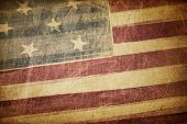 stock photo of holiday symbols  - Vintage american flag grunge background - JPG