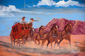 stock photo of stagecoach  - a Old stagecoach sign close up in ca - JPG