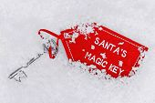 Santa's dropped his magic key in the snow.