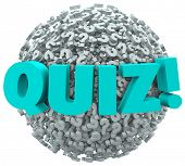 image of quiz  - Quiz Test Evaluation Question Mark Sphere - JPG