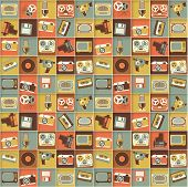 stock photo of swag  - Retro media hipster style pattern - JPG