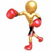 picture of pugilistic  - Boxing Sports Concept And Presentation Figure In 3D - JPG