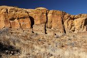 pic of pueblo  - Pueblo Ruins in Chaco Canyon, New Mexico