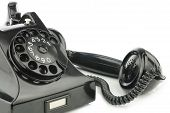 image of bakelite  - Old retro bakelite telephone - JPG