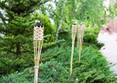 pic of tiki  - Decoration tiki oil torches for lighting or insect repellent - JPG