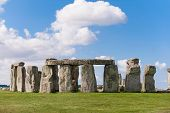 picture of pagan  - Stonehenge prehistoric ancient monument near Salisbury England  - JPG