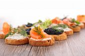 stock photo of buffet  - canape - JPG