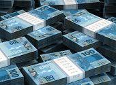 picture of brazilian money  - Stack of Brazilian Real  - JPG