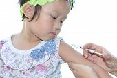 stock photo of viral infection  - A Small kid of the injection vaccination - JPG