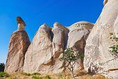 picture of phallic  - Rock formations in Cappadocia Turkey  - JPG