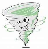 image of hurricane clips  - Twister cartoon Editable  - JPG