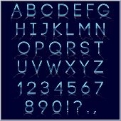 picture of symbol punctuation  - Vector blue and chrome alphabet letter - JPG