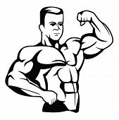 picture of muscle builder  - body builder Editable  - JPG