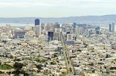 stock photo of gey  - Aerial view of downtown San Francisco city skyline California United States of America - JPG