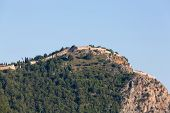 pic of cleopatra  - The castle in Alanya built on the hill above the beach of Cleopatra - JPG