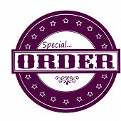 stock photo of peculiar  - Rubber stamps with text special order inside vector illustration - JPG