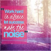 foto of silence  - Inspirational Typographic Quote  - JPG