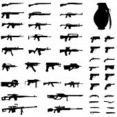 stock photo of rifle  - An Illustration Set  - JPG