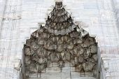 image of niche  - Niche in the wall of Sultan Ahmed mosque in Istanbul Turkey - JPG