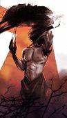 stock photo of underworld  - Comic style fantasy horror muscle monster illustration - JPG