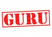 pic of guru  - GURU Rubber Stamp over a white background - JPG