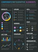 foto of lilas  - Infographic business and personal resume cv on black background - JPG