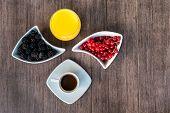 foto of continental food  - Breakfast with coffee - JPG