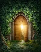 stock photo of mystery  - Mysterious entrance to new life or beginning - JPG