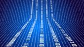 picture of binary code  - Binary code on abstract technology background on blue - JPG