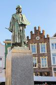 ������, ������: Monument Of Famous Painter Hieronymus Bosch In S hertogenbosch Netherlands