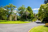 image of cbd  - Fitzroy Gardens near Melbourne CBD on a hot summer - JPG
