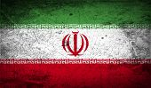 picture of tehran  - Flag of Iran with old texture - JPG