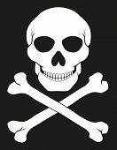 foto of skull crossbones flag  - pirate skull and crossbones vector illustration isolated on white background - JPG